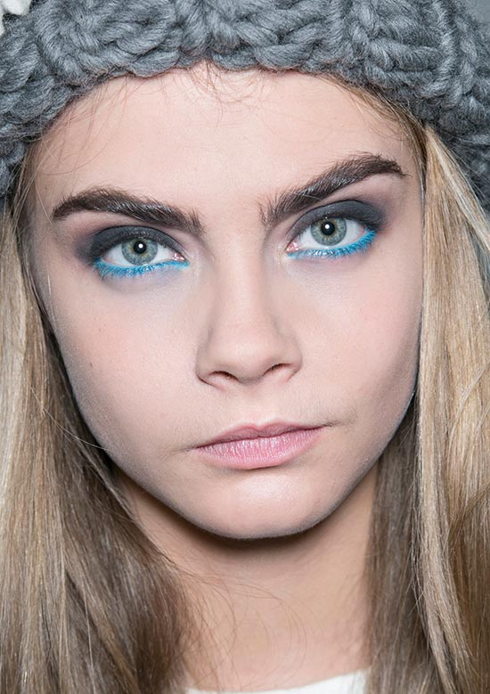 Blue eyeliner at Giles A/W '14