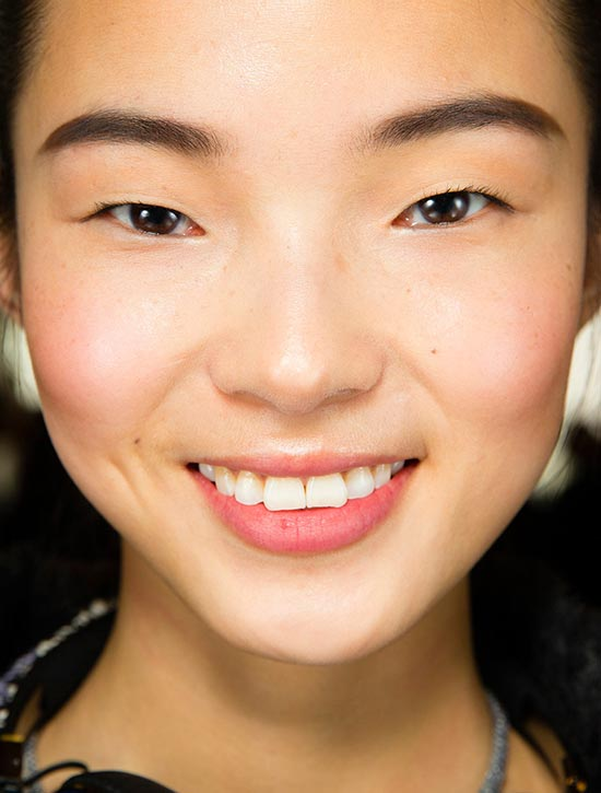 Boyish feminine makeup look at Jason Wu A/W '14