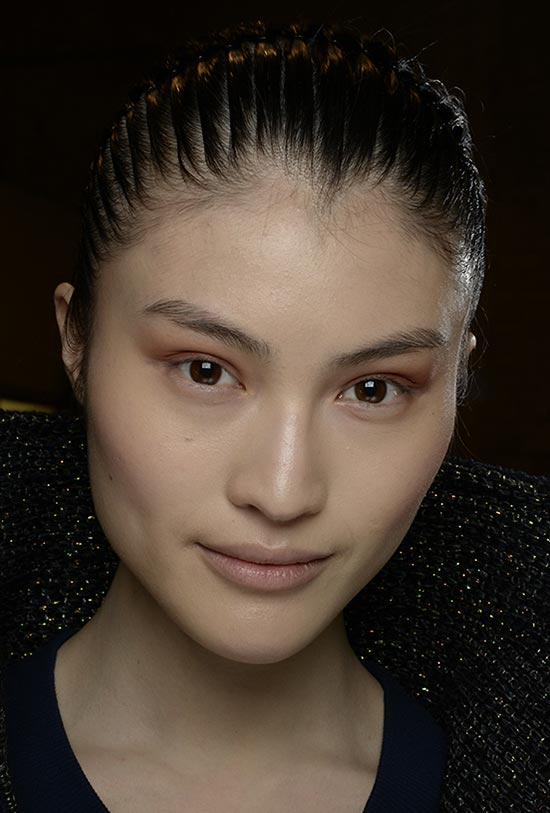 Burgundy eyeshadow at Helmut Lang A/W '14