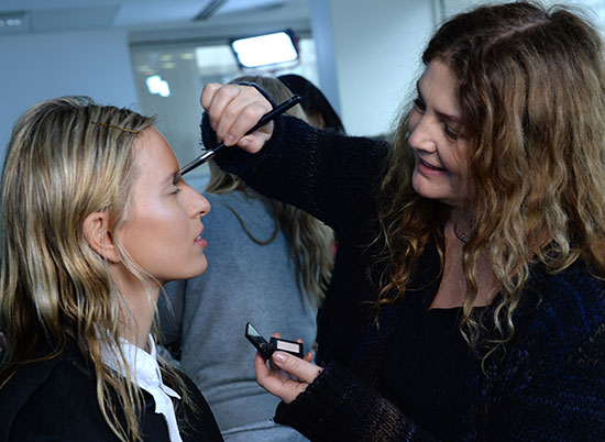 Christopher Kane A/W '14 backstage makeup by NARS