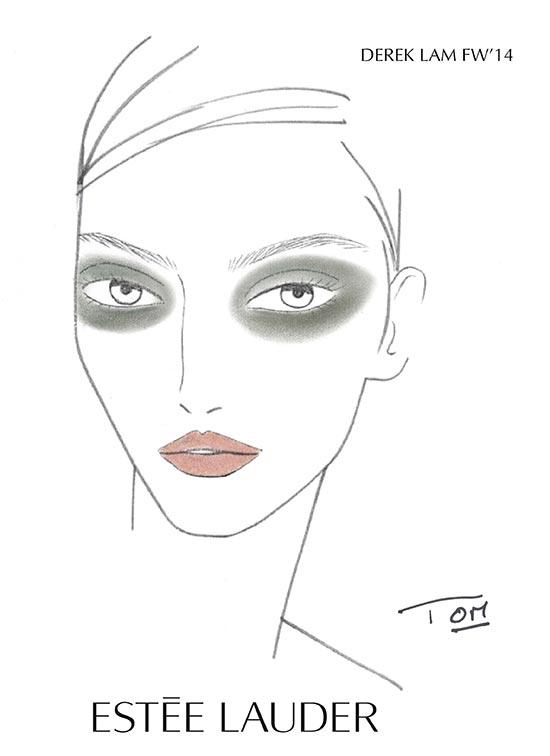 Derek Lam A/W '14 makeup face chart by Estee Lauder