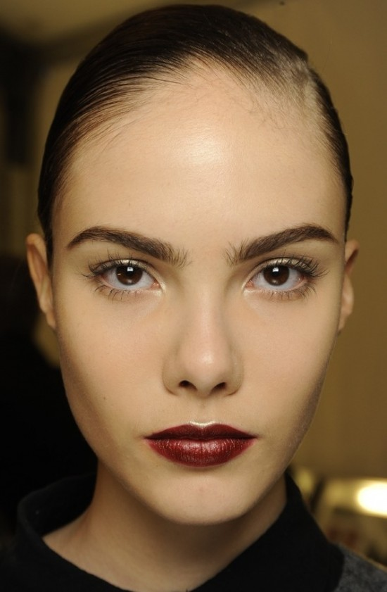 Gilded Eyes And Red Lips At Naeem Khan A/W '14