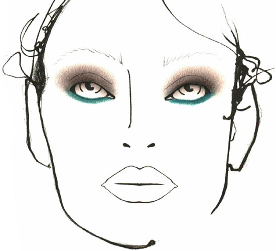 Giles A/W '14 makeup facechart by MAC