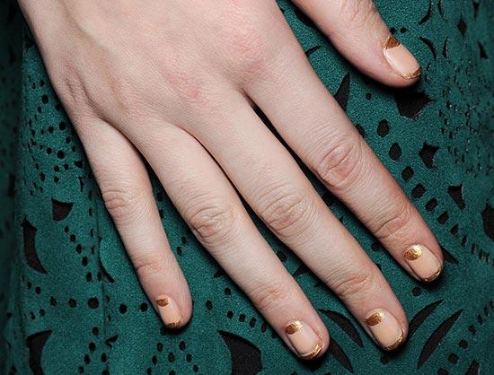 Golden Tips manicure at Tadashi Shoji Fall'14