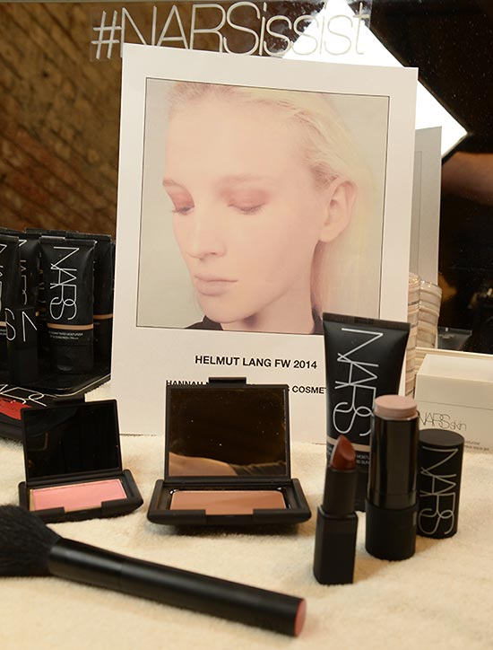 Helmut Lang A/W '14 backstage makeup by NARS