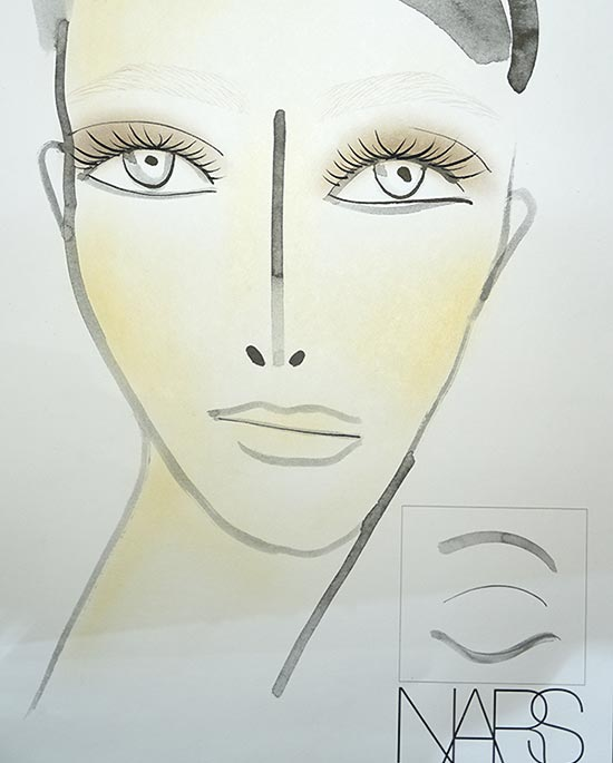 Helmut Lang A/W '14 makeup facechart
