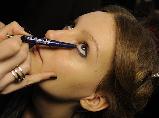 Jill Stuart A/W '14 backstage makeup by Maybelline
