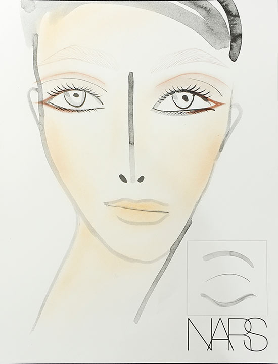 Marc Jacobs A/W '14 makeup facechart