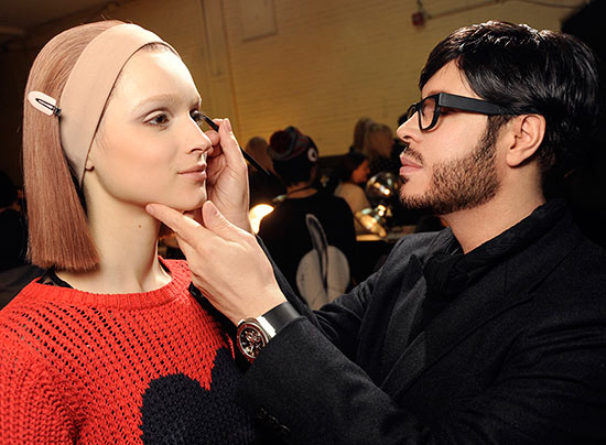 Francois Nars backstage at Marc Jacobs A/W '14