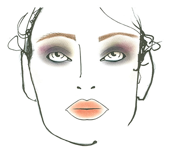 Nicole Miller A/W '14 makeup face chart by MAC