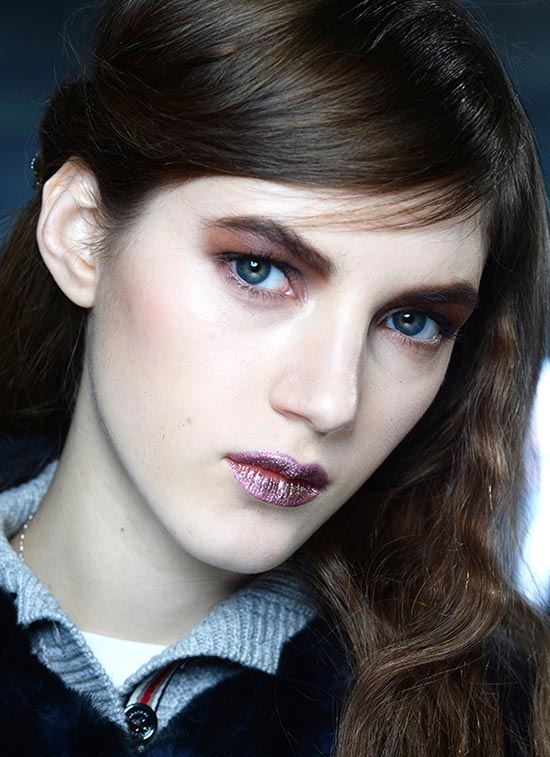 Dramatic reddish brown Eyes At Rodarte A/W '14