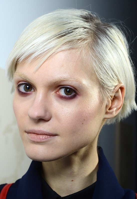 smudgy eye makeup at Rachel Comey AW 14