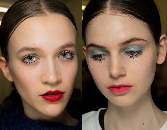 Spidery Lashes at Prada A/W '14