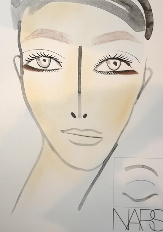 Thakoon A/W '14 makeup facechart by NARS