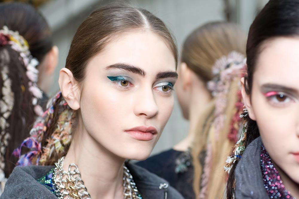 Colorful cat eye at Chanel A/W '14