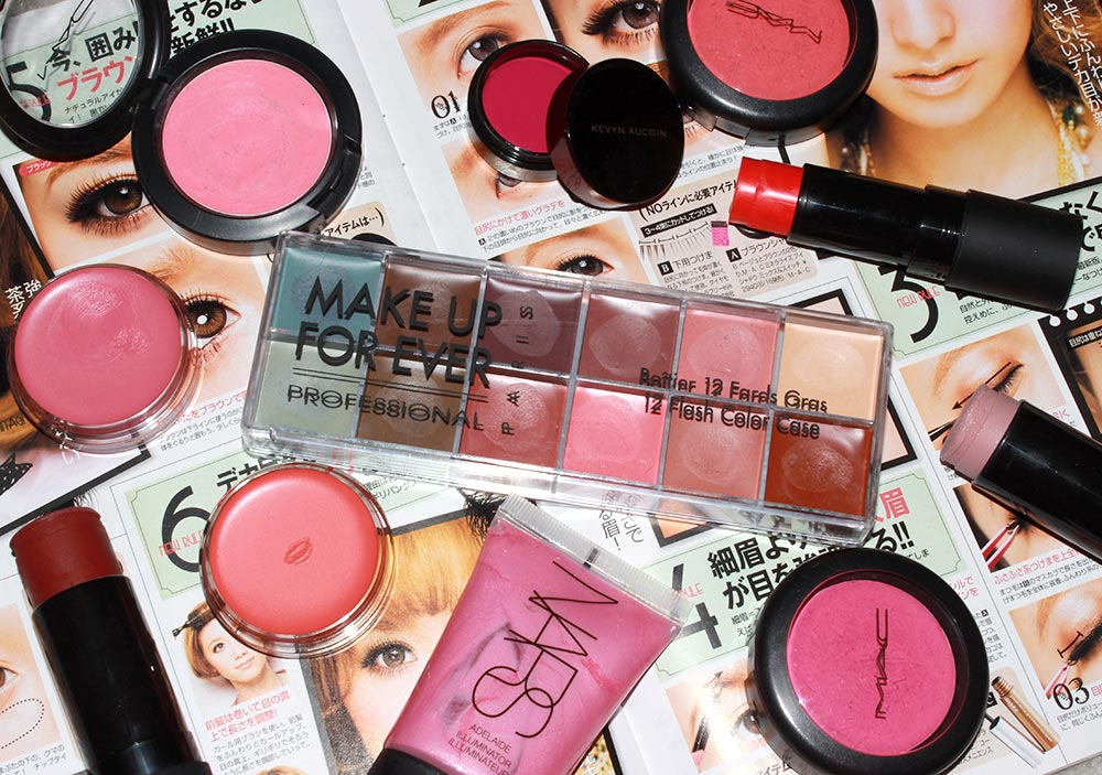 Cream and gel blushes