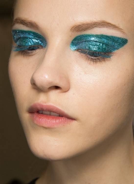 High Impact Glittery blue eyes at Dior A/W '14