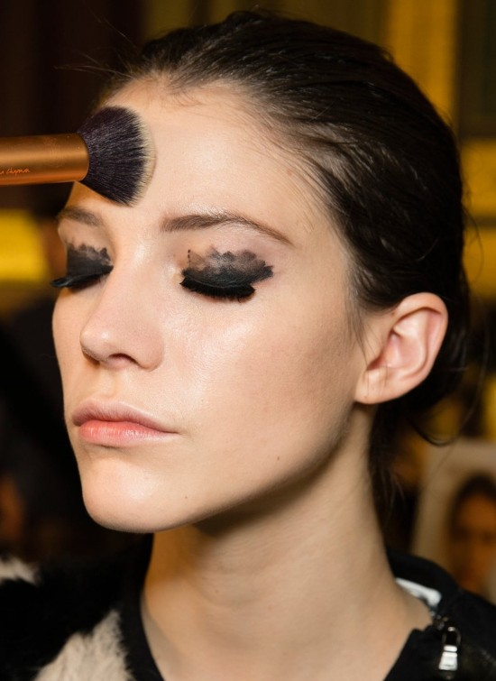 Lanvin A/W '14 backstage beauty