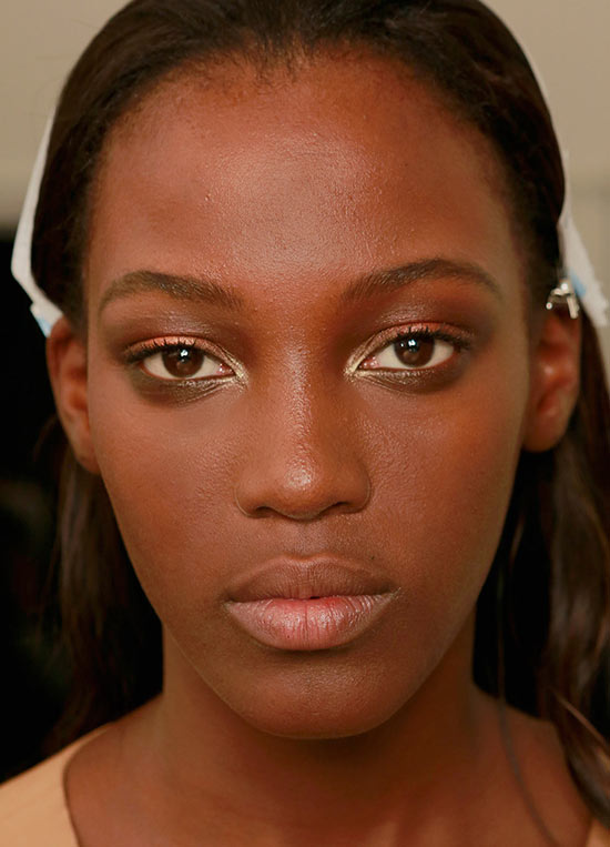 Gucci S/S '14 backstage makeup