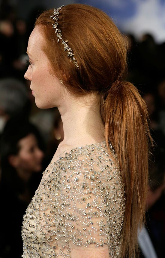 Jenny Packham Spring 2015 Bridal hair by Tresemme