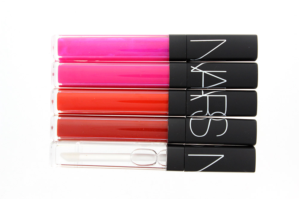 NARS Easy Lover, Priscilla, Eternal Red, Scandal and Triple X Lip Gloss