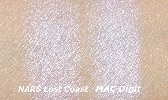 NARS Lost Coast Duo Eyeshadow vs MAC Digit Eyeshadow