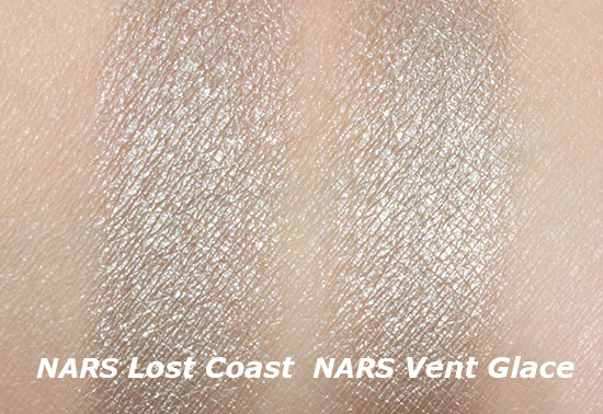 NARS Lost Coast Duo Eyeshadow vs NARS Vent Glace Duo Eyeshadow