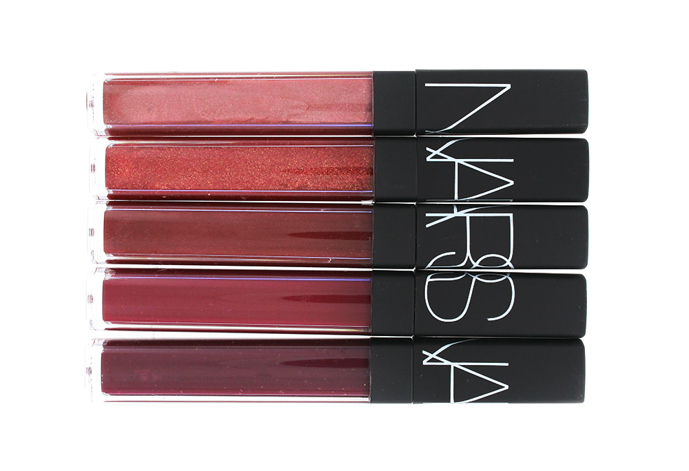 NARS Risky Business, Misbehave, Rose Gitane, Quito and Sixties Fan Lip Gloss