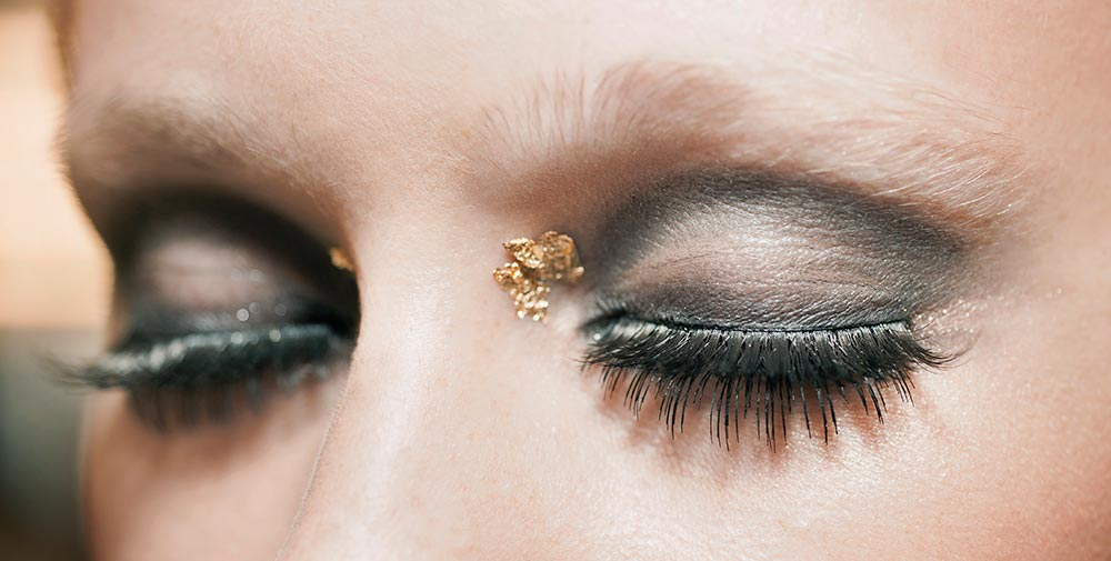 Closeup of Chanel Resort 2015 eye makeup