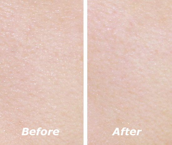 Before and After Using Maybelline Baby Skin Instant Pore Eraser