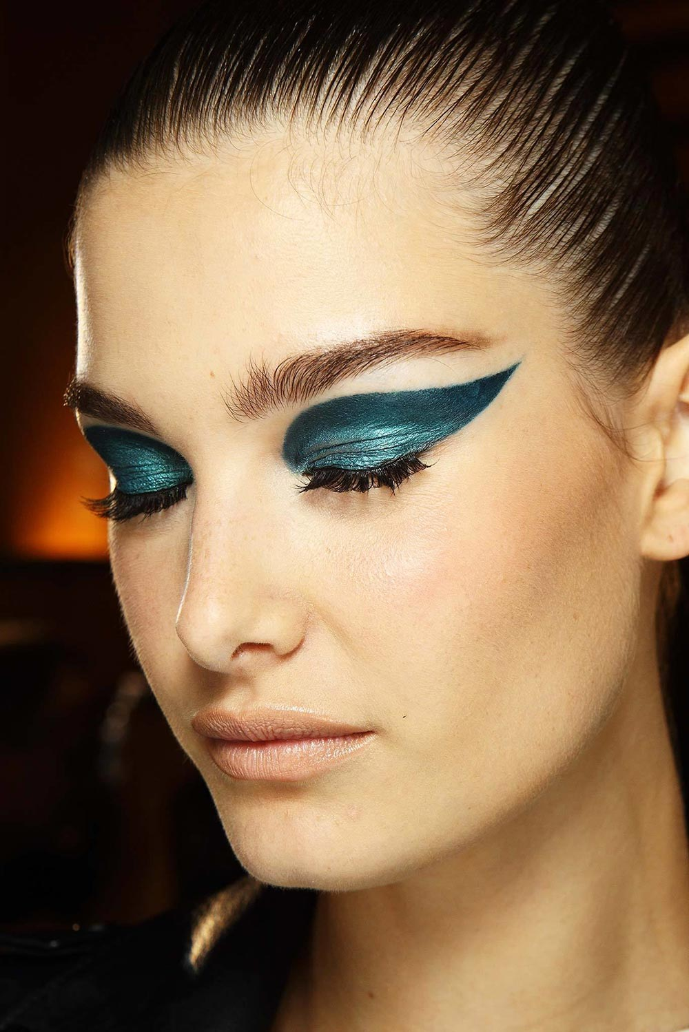 Backstage makeup at Atelier Versace Fall 2014 Couture