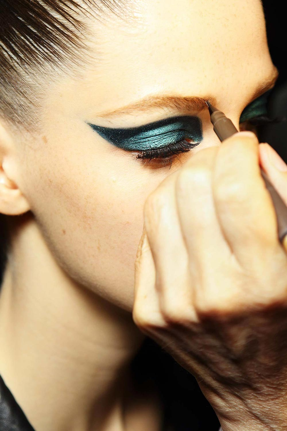 Makeup by Pat McGrath at Atelier Versace Fall 2014 Couture