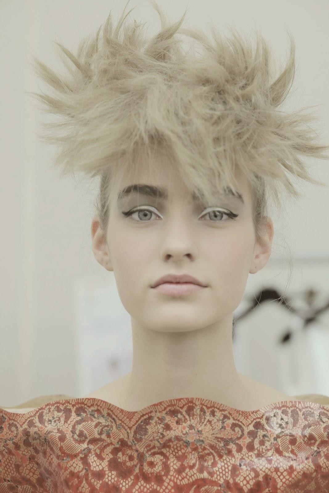 Runway Beauty: Gold + Silver Cat Eye at Chanel Fall 2014 ...