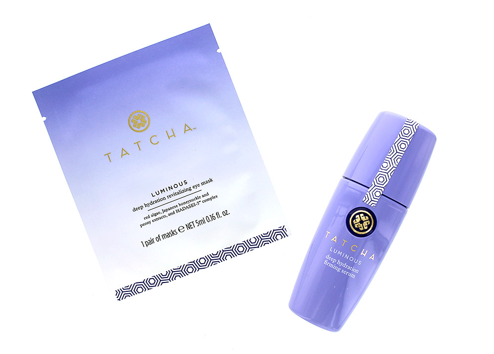 TATCHA Water Collection Luminous Deep Hydration Firming Serum and Revitalizing Eye Mask