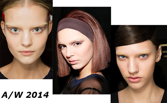 A/W 2014 Bleached Brows Trend