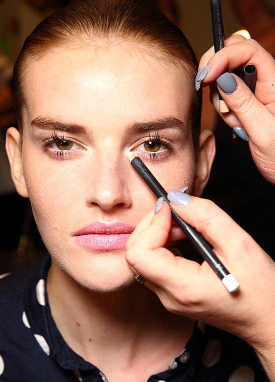Backstage makeup by MAC at Altuzarra Spring/Summer 2015