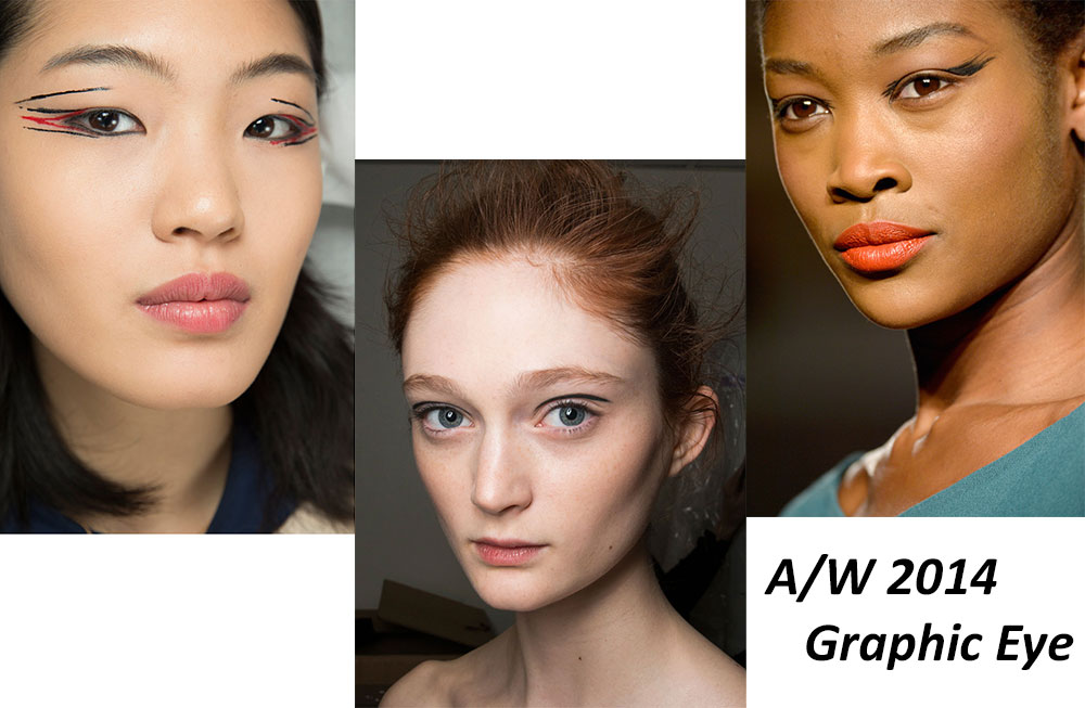 A/W 2014 Runway Graphic Eyeliner Makeup trend