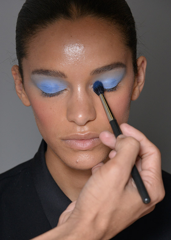 Blue eyeshadow at Dannijo Spring/Summer 2015