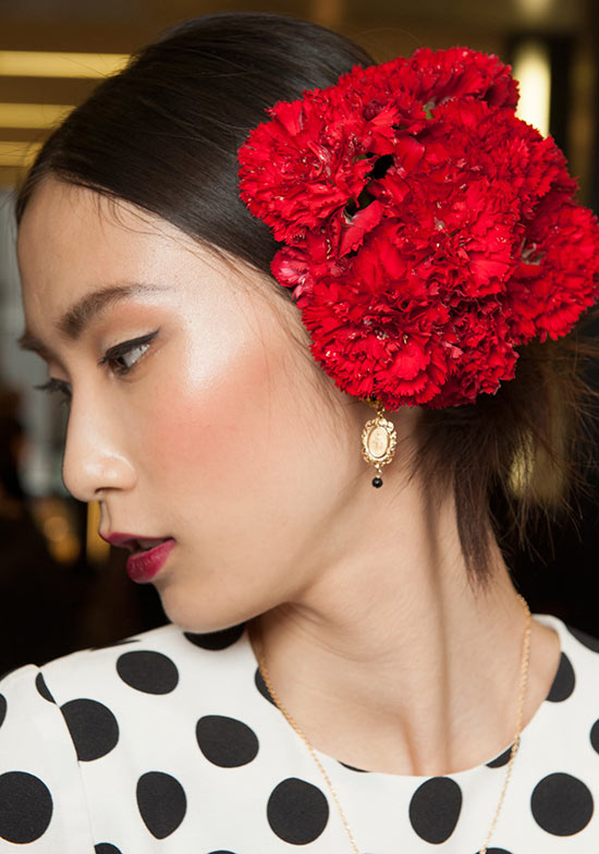 Dolce & Gabbana Spring/Summer 2015 makeup look