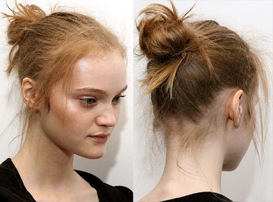 Flyaway knot by TRESemme at 3.1 Phillip Lim Spring/Summer 2015