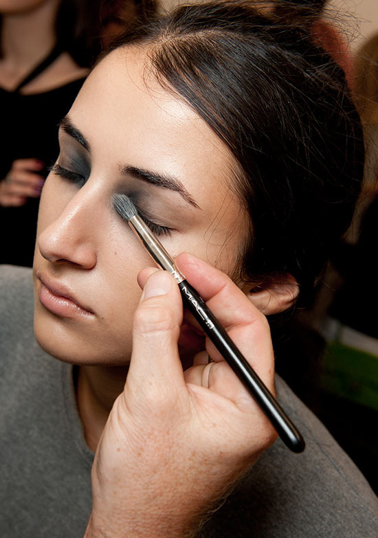 Giles Spring/Summer 2015 backstage makeup by MAC