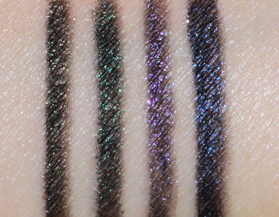 Swatches of NARS Night Series Eyeliners