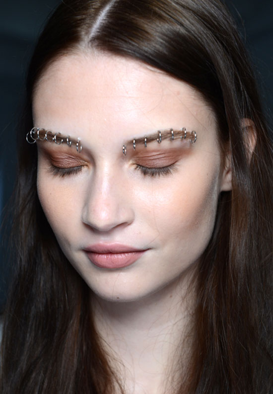 Rose bronze eyeshadow at Rodarte Spring/Summer 2015