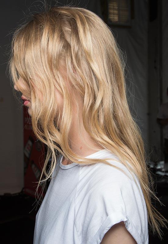 Sexy bedhead at Rebecca Minkoff Spring/Summer 2015