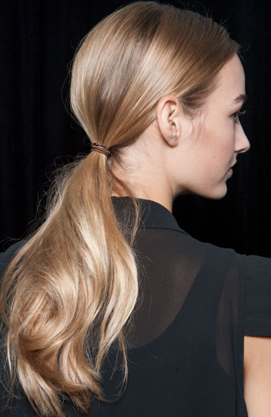 Side-part low ponytail by Kerastase at Jason Wu Spring/Summer 2015