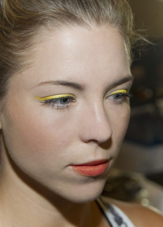 Yellow eyeshadow at Athleta Spring/Summer 2015 runway