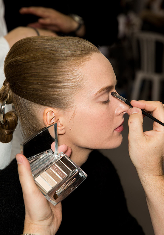 Backstage makeup at Christian Dior Spring 2015 Couture width=
