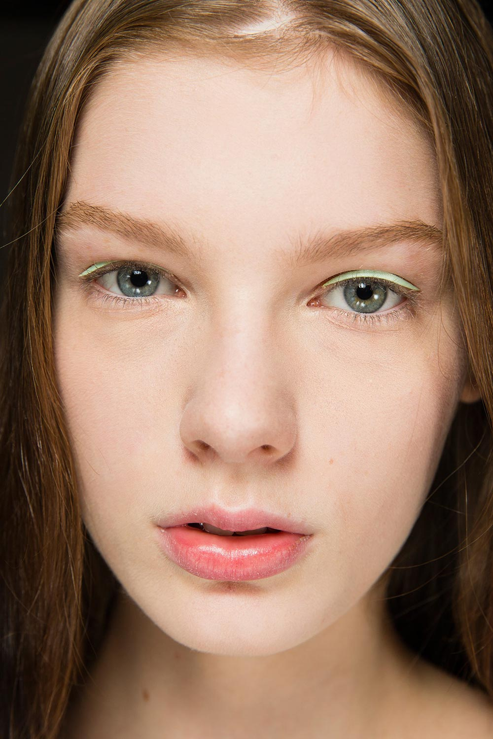 Dior pastel eyeliner patches at Spring 2015