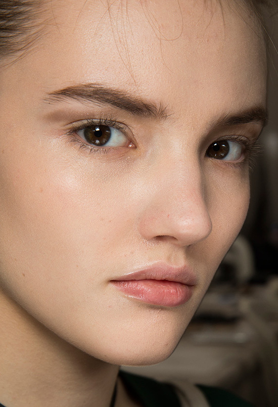 Nude makeup look at Christian Dior Spring 2015 Couture
