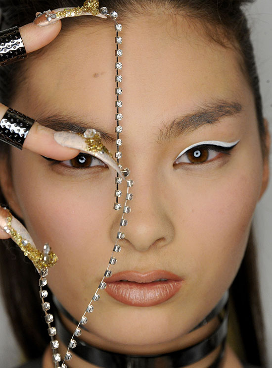 3D Nail art at The Blonds A/W 2015